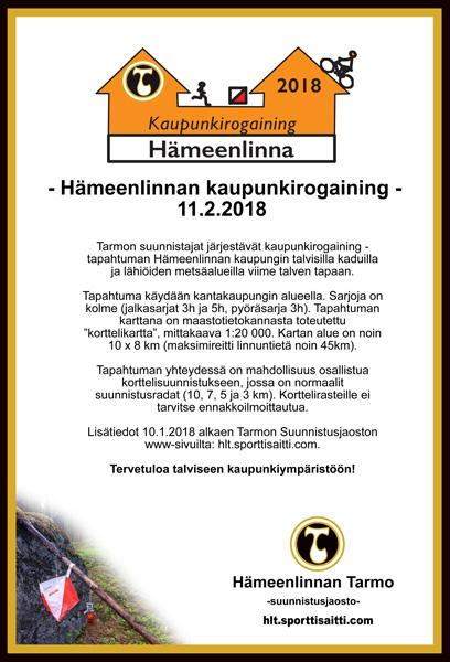 Hameenlinnan Kaupunkirogaining 11 2 2018 Hameenlinnan Tarmo